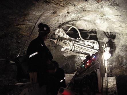 Underground Mining Micro Bolter Vale Coleman Mine