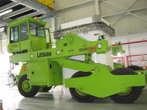 A picture of OPG waste haulage fleet truck that leverages MEDATech's electric powered- heavy equipment prototyping services