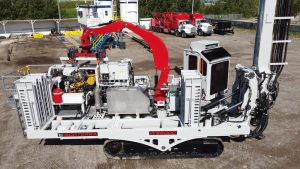 A picture of The WS6000, the track-mounted drill rig capable of drilling 7-inch nominal diameter holes