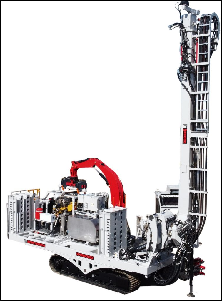 WS6000 Sonic and Wassara Water Hammer Drill Rig