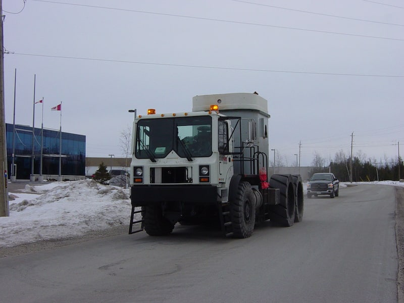 A picture of the TOR variant performing a test drive
