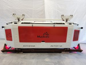 A picture of a Torex ALTDRive from the front with its panel closed. Designed by MEDATech a mechanical engineering company