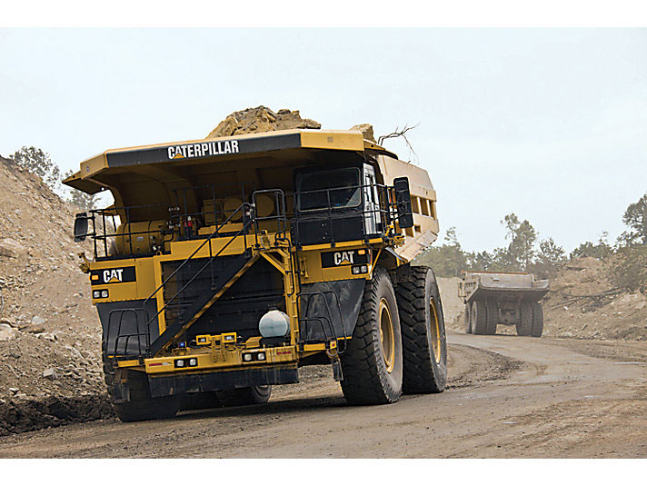Large Caterpillar mining truck vehicle as an example of equipment that can be electrified by MEDATech