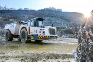 Large electric mining truck vehicle as an example of equipment that can be electrified by MEDATech